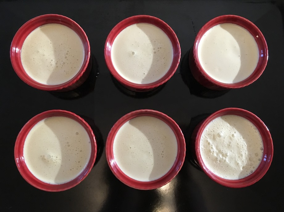 Crème au calament ramequins