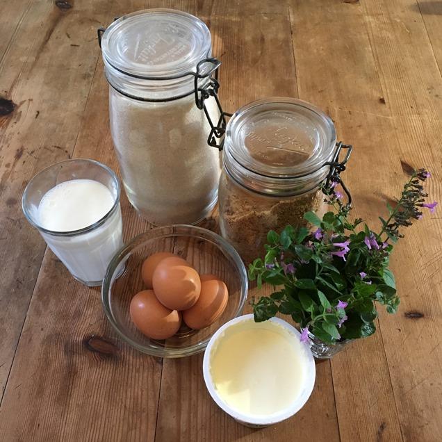 Ingrédients crème au calament