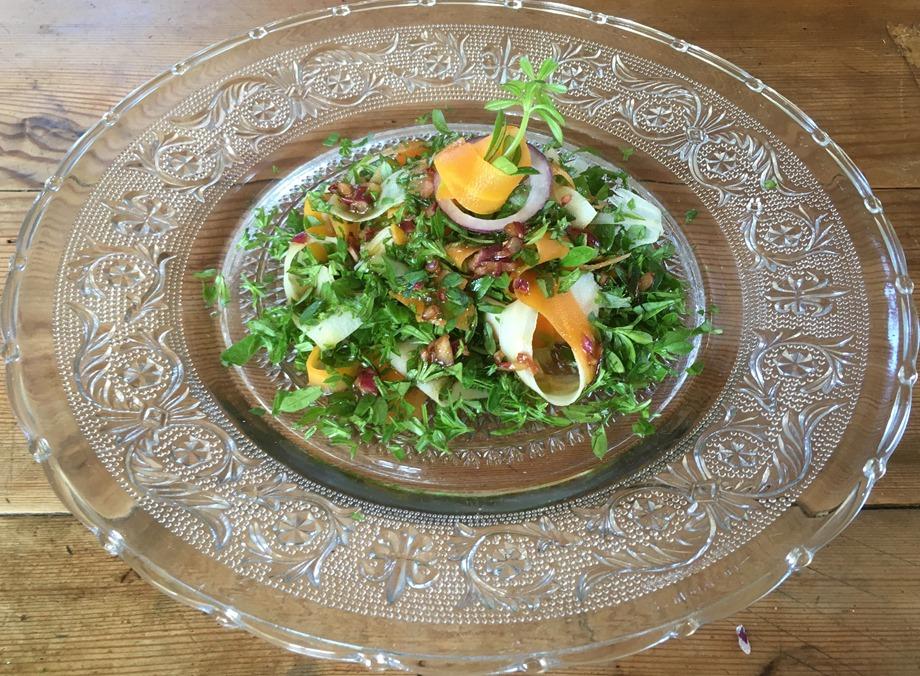 Tagliatelles de légumes au gaillet gratteron