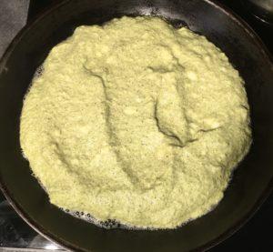 Cuisson de l'omelette