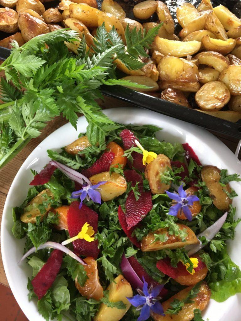 Salade de cerfeuil et pommes de terre