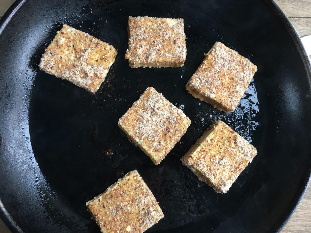 Tofu pané à la poêle