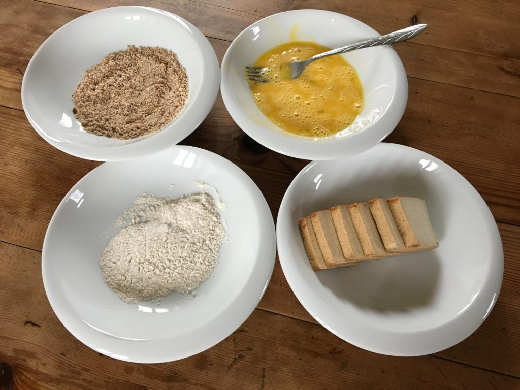 Pour paner le tofu