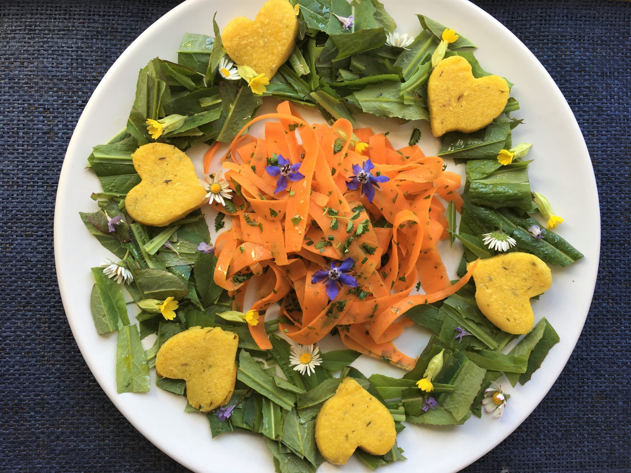 Tagliatelles de carottes à la pimprenelle