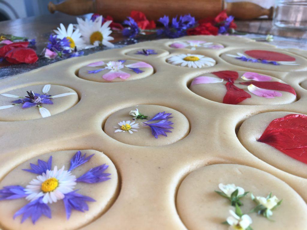 Sablés aux fleurs