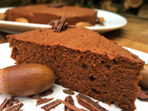 Gâteau au chocolat et à la farine de glands