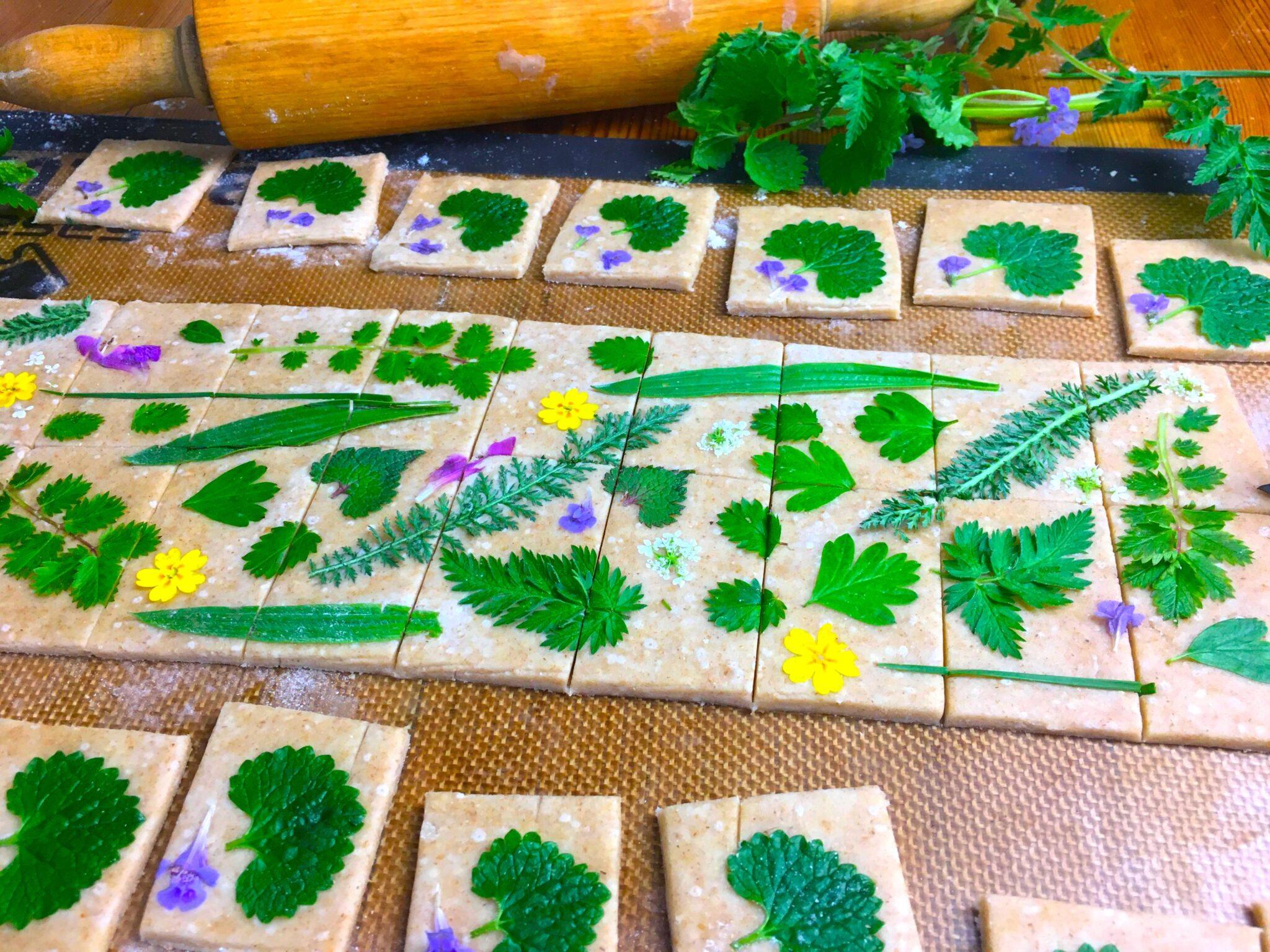 Pâte brisée et plantes sauvages