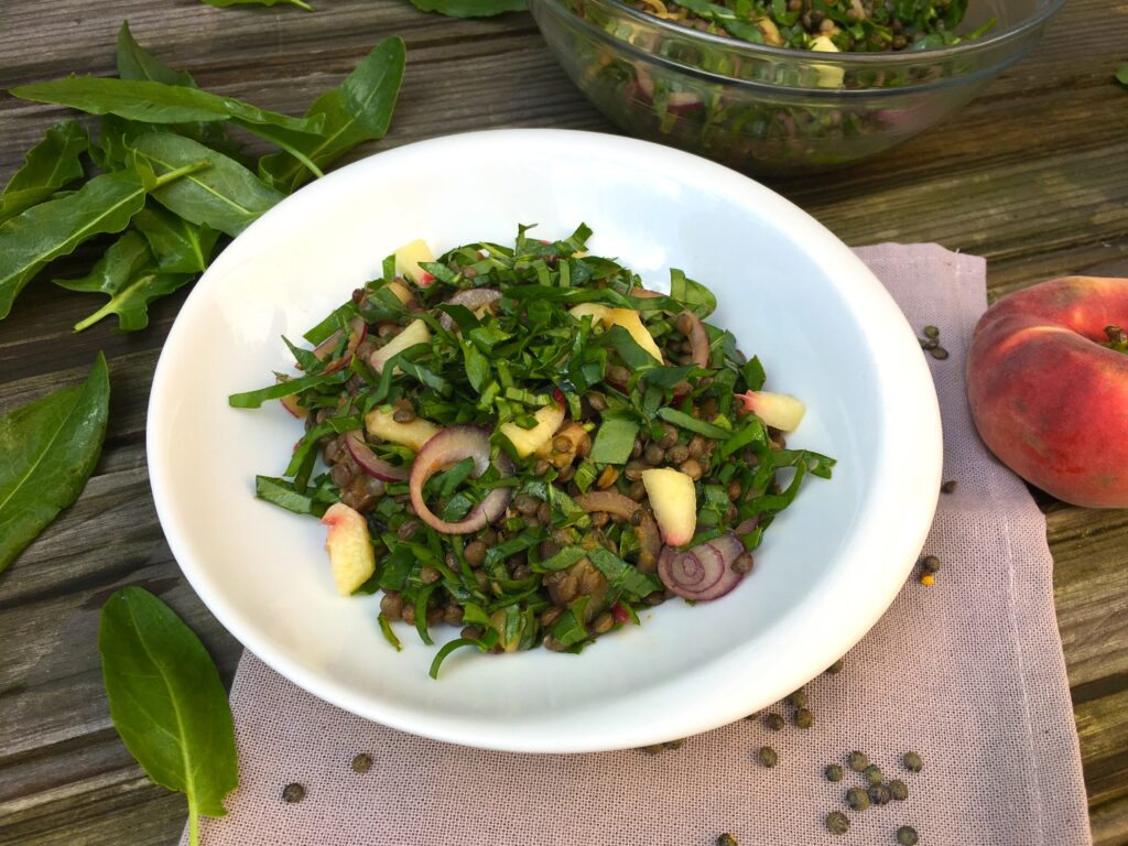 Salade de lentilles à l'oseille sauvage 2
