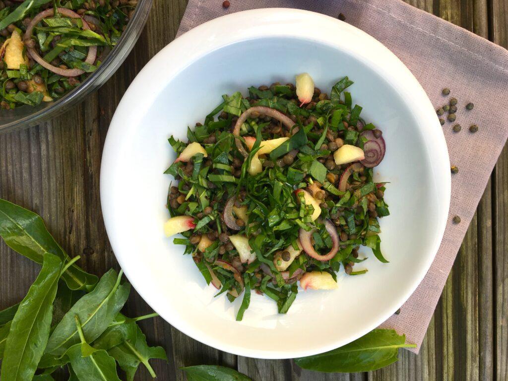 Salade de lentilles à l'oseille sauvage